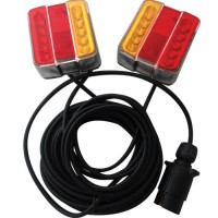 LG556 LED Magnetic Trailer Tail Light Set (7.5 Metre Cable)