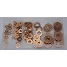 C0406 110 Piece Copper Washer Assortment Set